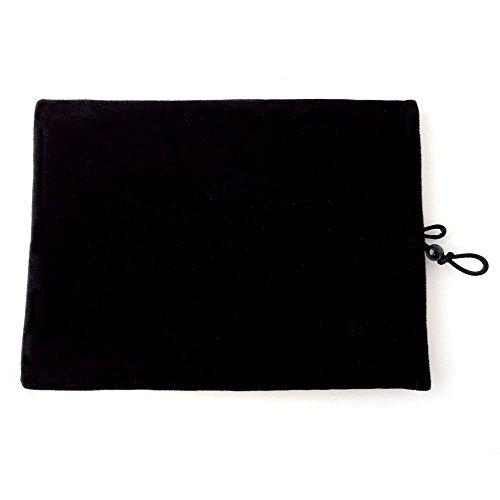 SLSC タブレットポーチケース KAIHOU KH-MID700 [7インチ(800x480)]対応 フランネル生地素材(ブラック)
