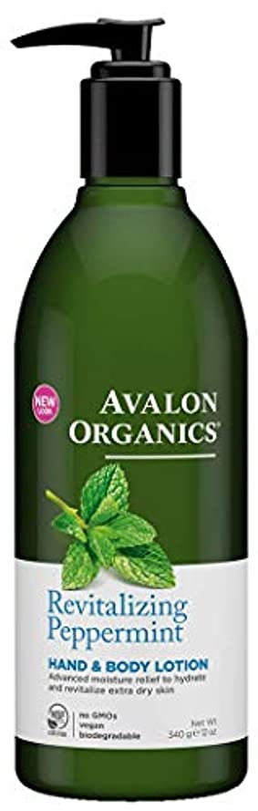 正確透明に溶かすAvalon Peppermint Hand & Body Lotion 340g (Pack of 2) - (Avalon) ペパーミントハンド&ボディローション340グラム (x2) [並行輸入品]