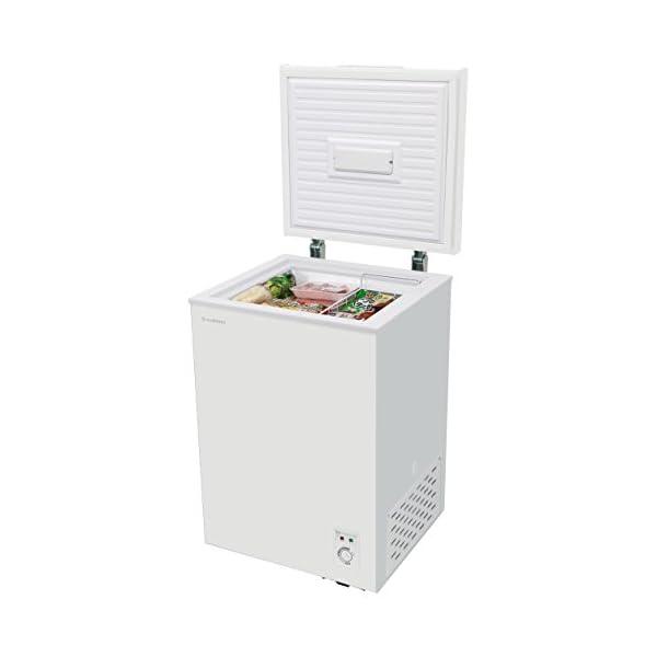 チェスト型冷凍庫 98L ホワイト 庫内灯付き...の紹介画像4