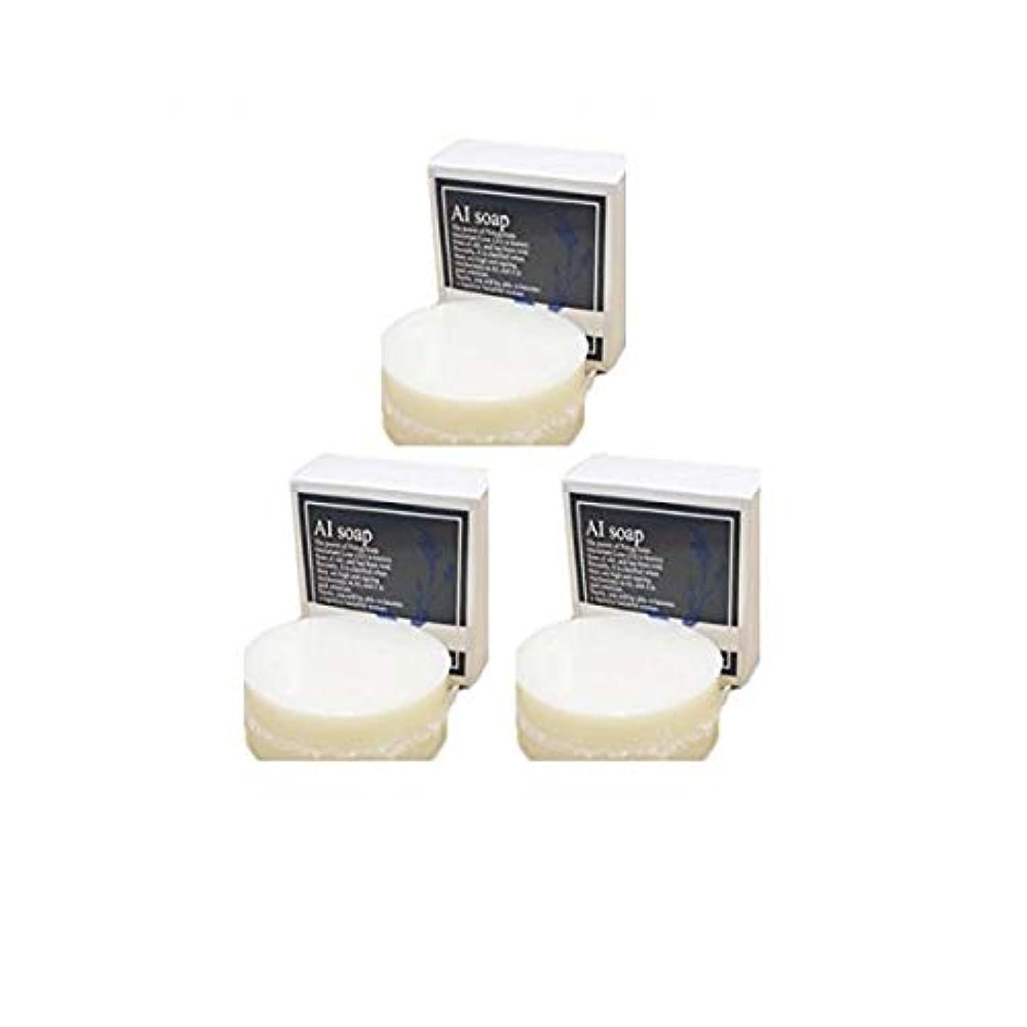 瀬戸際脇に位置するAI soap 藍石鹸 3個セット(100g×3個)藍エキス配合の無添加石鹸