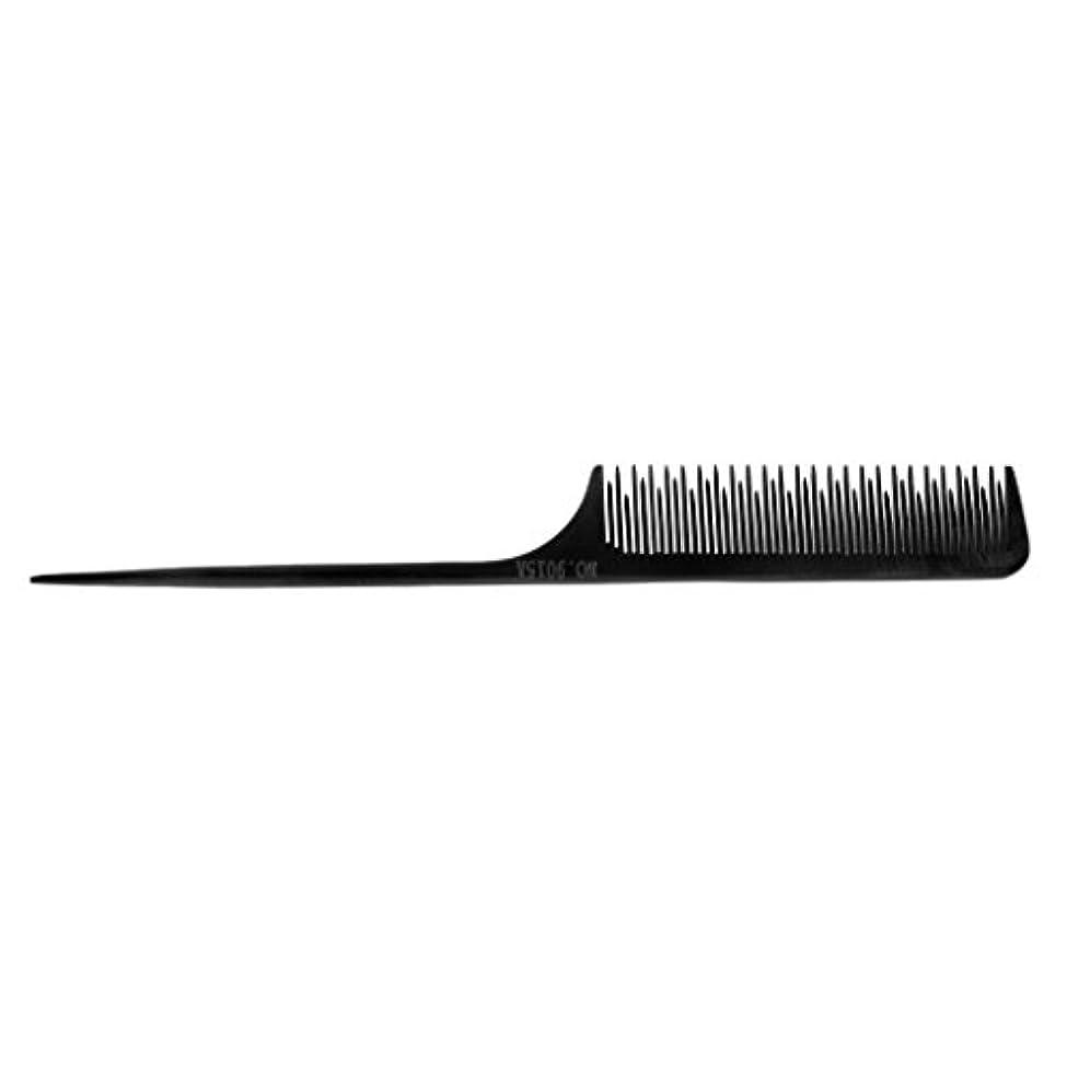 予測子褐色彼らのサロンの理髪師のテールチップスタイリングツール細かい歯の選択毛の櫛