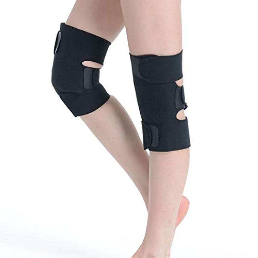 思いやりデコラティブのぞき見CAFUTY 女性と男性Kneepadウォーム健康膝パッドスポーツアウトドア製品 (Color : ブラック, サイズ : One size)