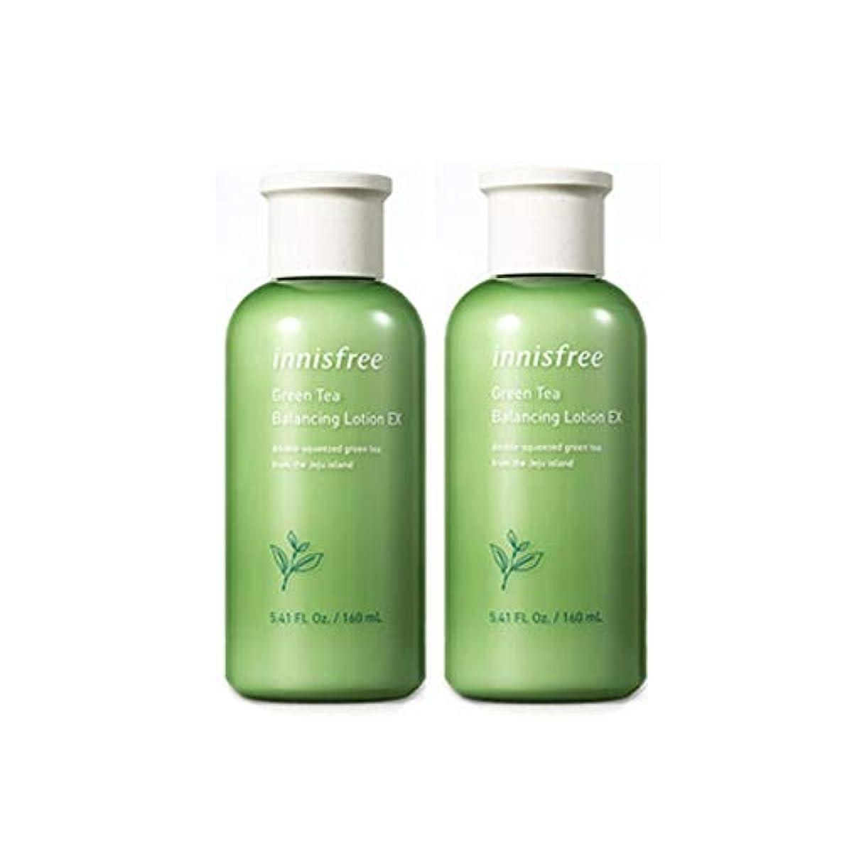 引き金プロジェクターゴージャスイニスフリーグリーンティーバランシングローション160mlx 2本セット水分ローション韓国コスメ、innisfree Green Tea Balancing Lotion 160ml x 2ea Set Korean Cosmetics...