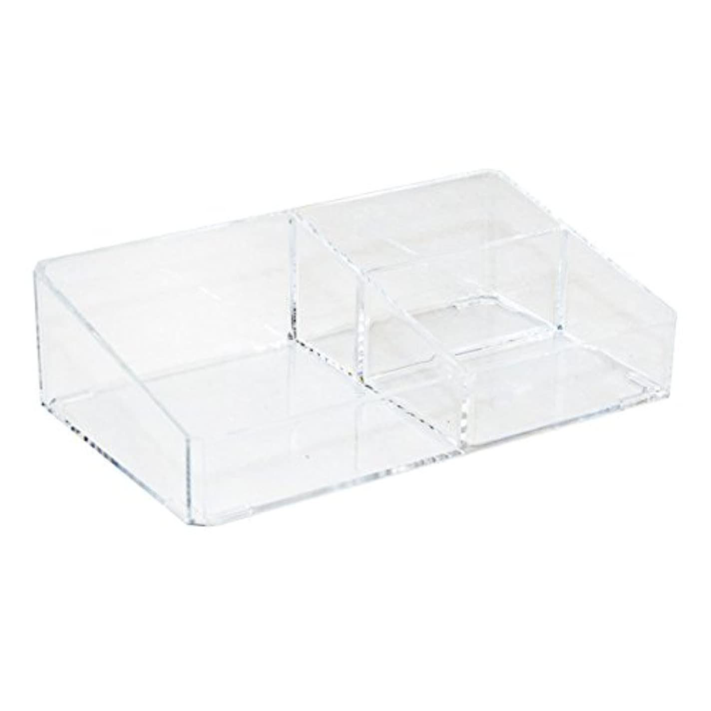 さらにハチグレートオークアクリルケース 収納ケース コスメボックス Mサイズ スタンドラック 小物 化粧品 アクセサリー_87256