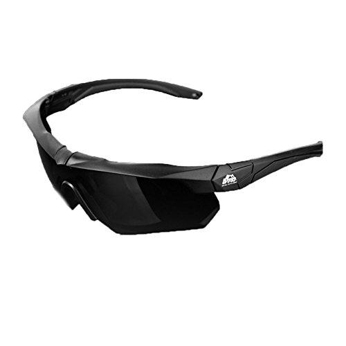 [RSWHYY] メンズ 対物キャップ タクティカルゴーグル バイクゴーグル 偏光 サングラス 近視 メガネ 眼鏡 スポーツ サイクリング ハイキング アウトドア 偏光レンズ 運転 ドライブ ゴーグル ブラック