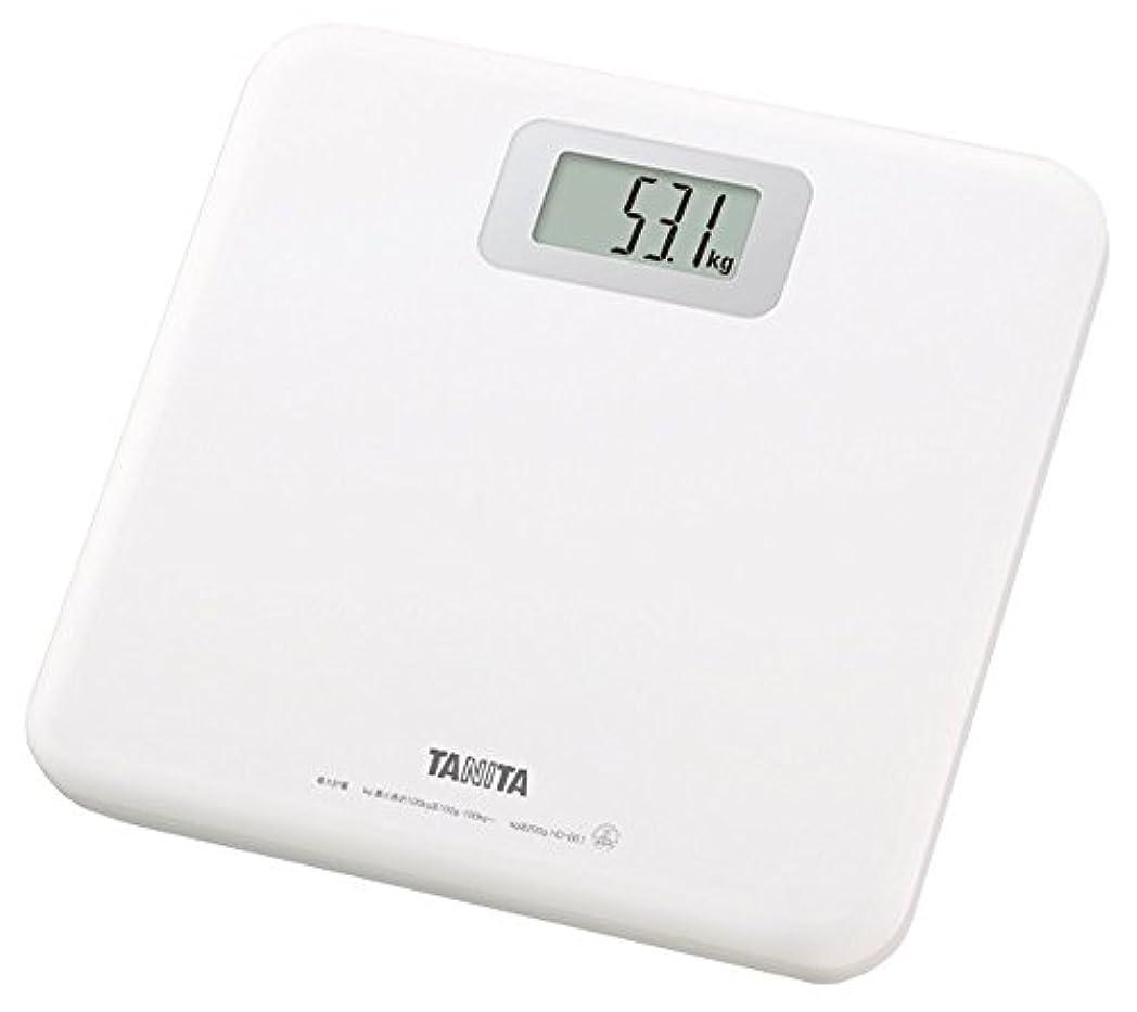 リマゴミ検体タニタ 体重計 ホワイト HD-661-WH