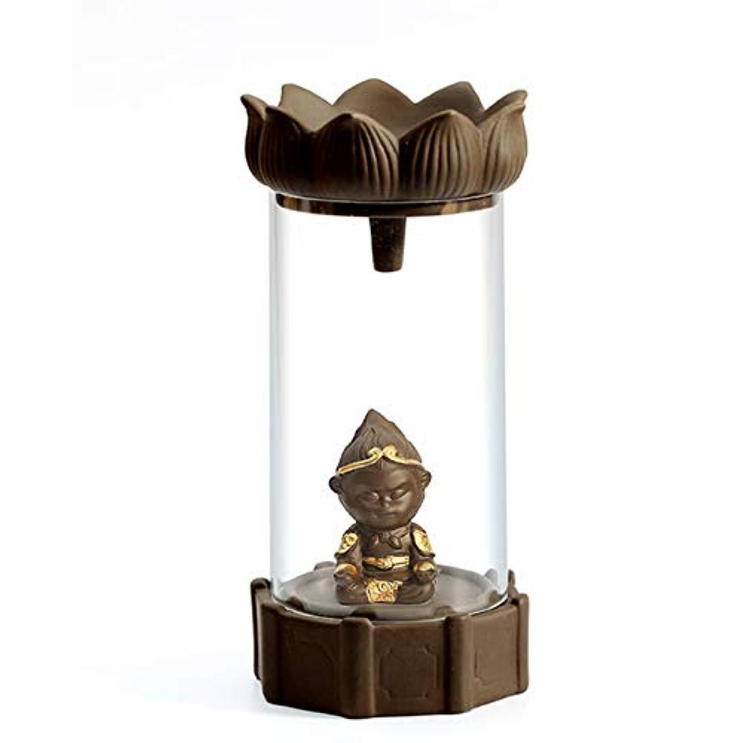博物館フェミニン周術期Symboat アロマバーナー 手作りのセラミックお香ホルダー滝の逆流お香バーナー置物お香コーンホルダー