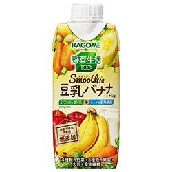 カゴメ 野菜生活100 Smoothie 豆乳バナナMix 330ml紙パック×12本入×(2ケース)