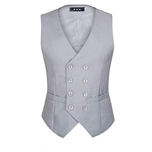 efeec1ea95013 Masvis ベスト ジレ メンズ スーツベスト ビジネス 無地 ダブルブレスト ラペルドベスト フォーマル スーツ仕立て スリム フィット