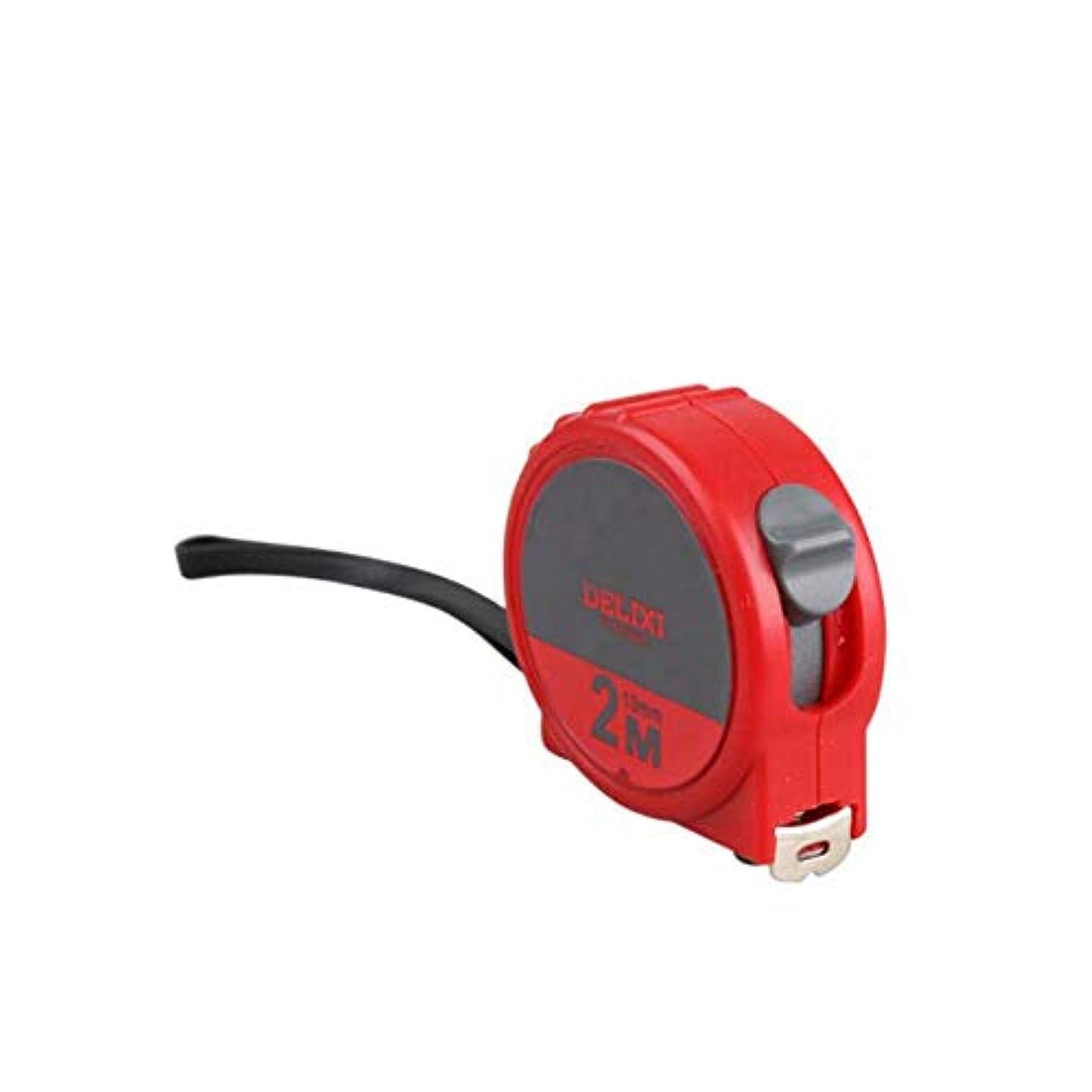 戦闘民兵クマノミGaoxingbianlidian001 鋼製巻尺、2 M 3 M 5 Mミニ小型巻尺、高精度落下抵抗測定ツール 安全性 (Color : Red, Size : 2m*13mm)