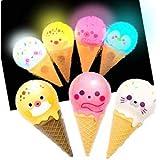 アイスクリームライト12入【光るおもちゃ 景品 イベント 子供会 お祭り 縁日 玩具 夏祭り 光り物】