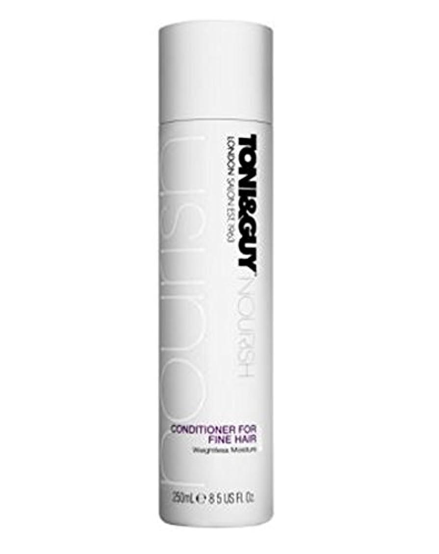 すべきモスクトレイルトニ&男は細い髪の250ミリリットルのためにコンディショナーを養います (Toni & Guy) (x2) - Toni&Guy Nourish Conditioner for Fine Hair 250ml (Pack...