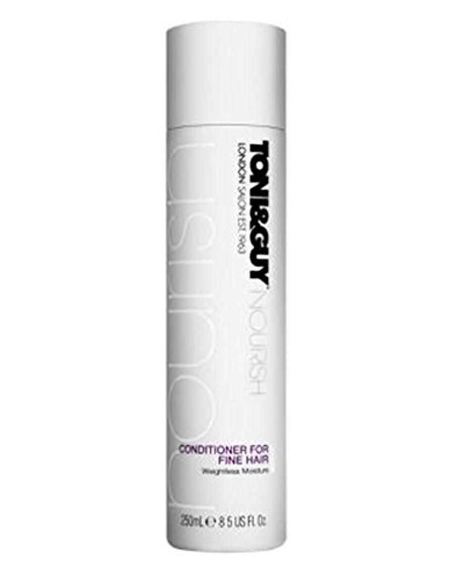 実り多い治療適格トニ&男は細い髪の250ミリリットルのためにコンディショナーを養います (Toni & Guy) (x2) - Toni&Guy Nourish Conditioner for Fine Hair 250ml (Pack...