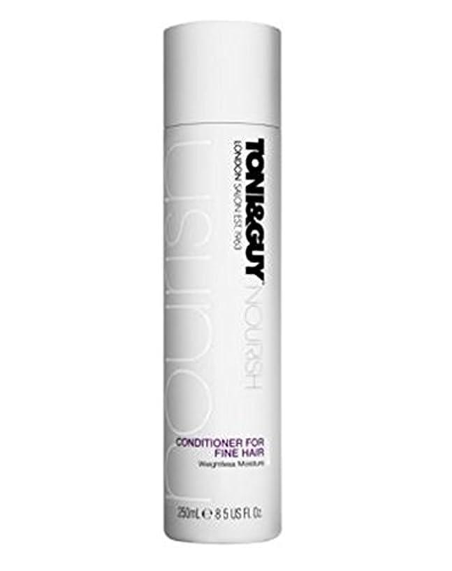 アンドリューハリディ湿度然としたトニ&男は細い髪の250ミリリットルのためにコンディショナーを養います (Toni & Guy) (x2) - Toni&Guy Nourish Conditioner for Fine Hair 250ml (Pack...