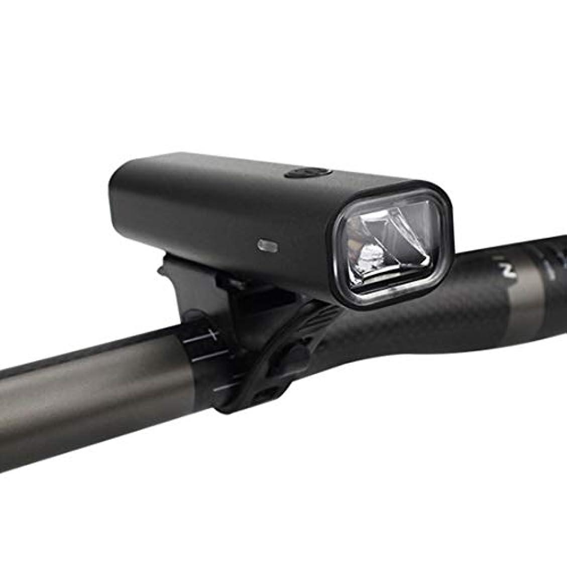 間隔故意に団結Doyvanntgo 自転車ライトヘッドライト懐中電灯グレア充電マウンテンバイクライトライディング機器 (Color : ブラック)