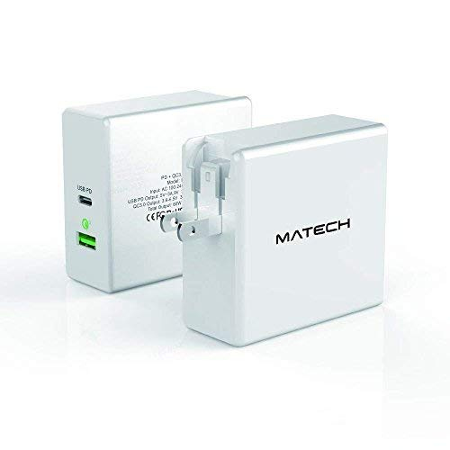 MATECH Type C 60W PD & QC3.0 急速充電器 任天堂 Switch 充電器 USB-C ACアダプター 折畳式プラグ Power D...