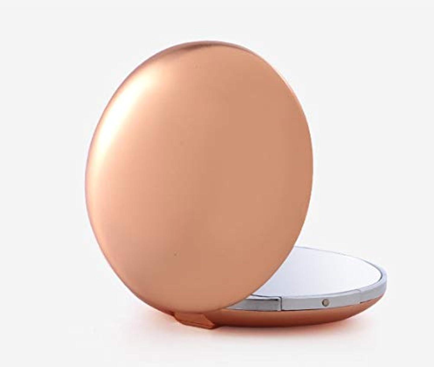 スピンエンディング霧深い化粧鏡、ゴールド亜鉛合金テクスチャアップグレード化粧鏡化粧鏡化粧ギフト