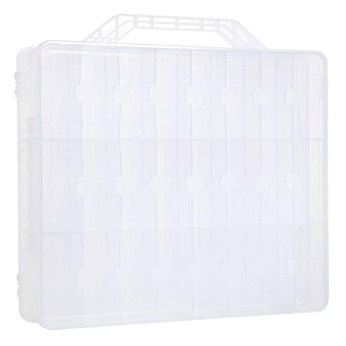 泣き叫ぶ均等に絡まるKapmore ネイルカラー 収納ボックス ネイルポリッシュ マニキュアケース 48ボトル収納可能 透明 プラスチック 小物入れ ヘアバンド ヘアクリップ 持ち運び