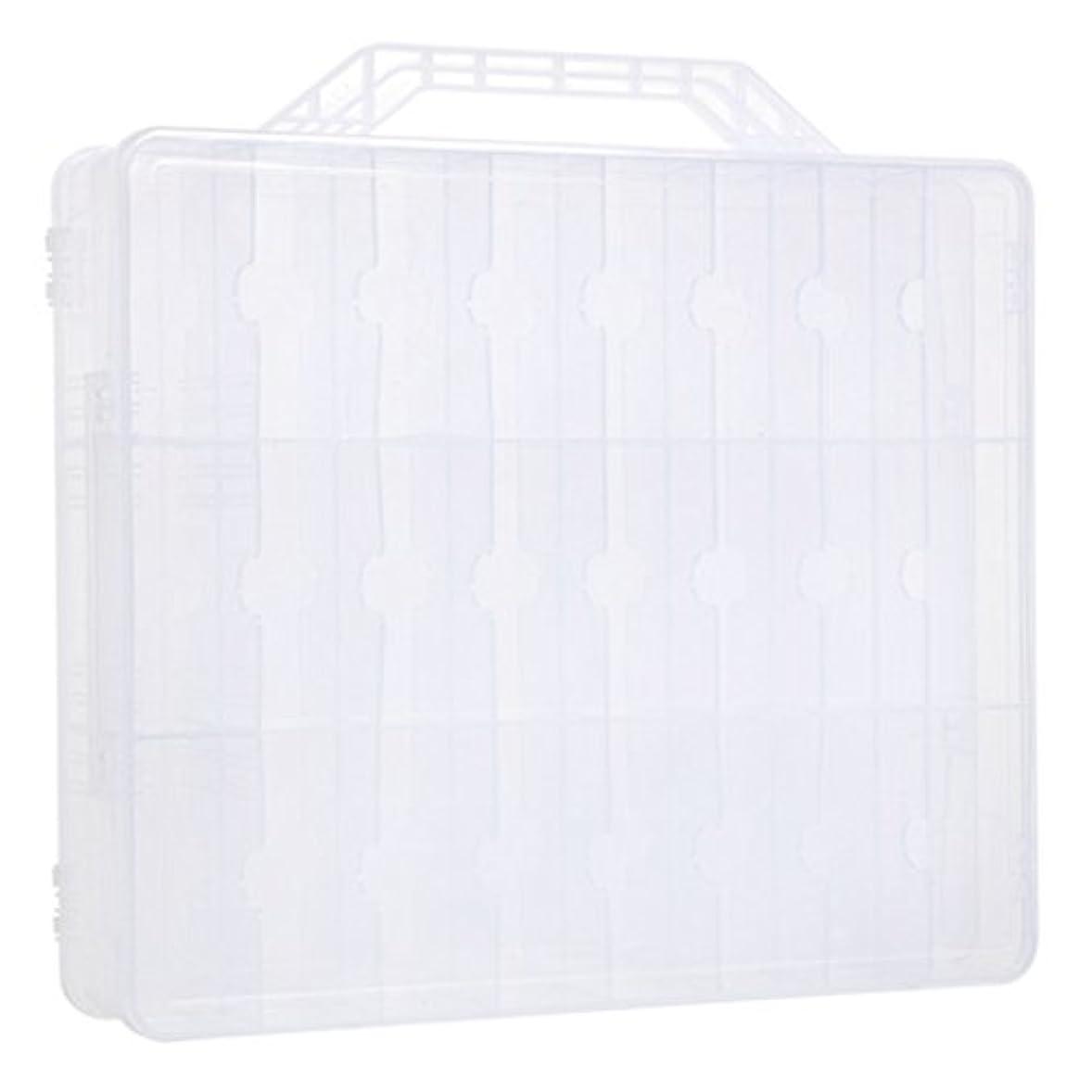 真夜中休み広げるKapmore ネイルカラー 収納ボックス ネイルポリッシュ マニキュアケース 48ボトル収納可能 透明 プラスチック 小物入れ ヘアバンド ヘアクリップ 持ち運び