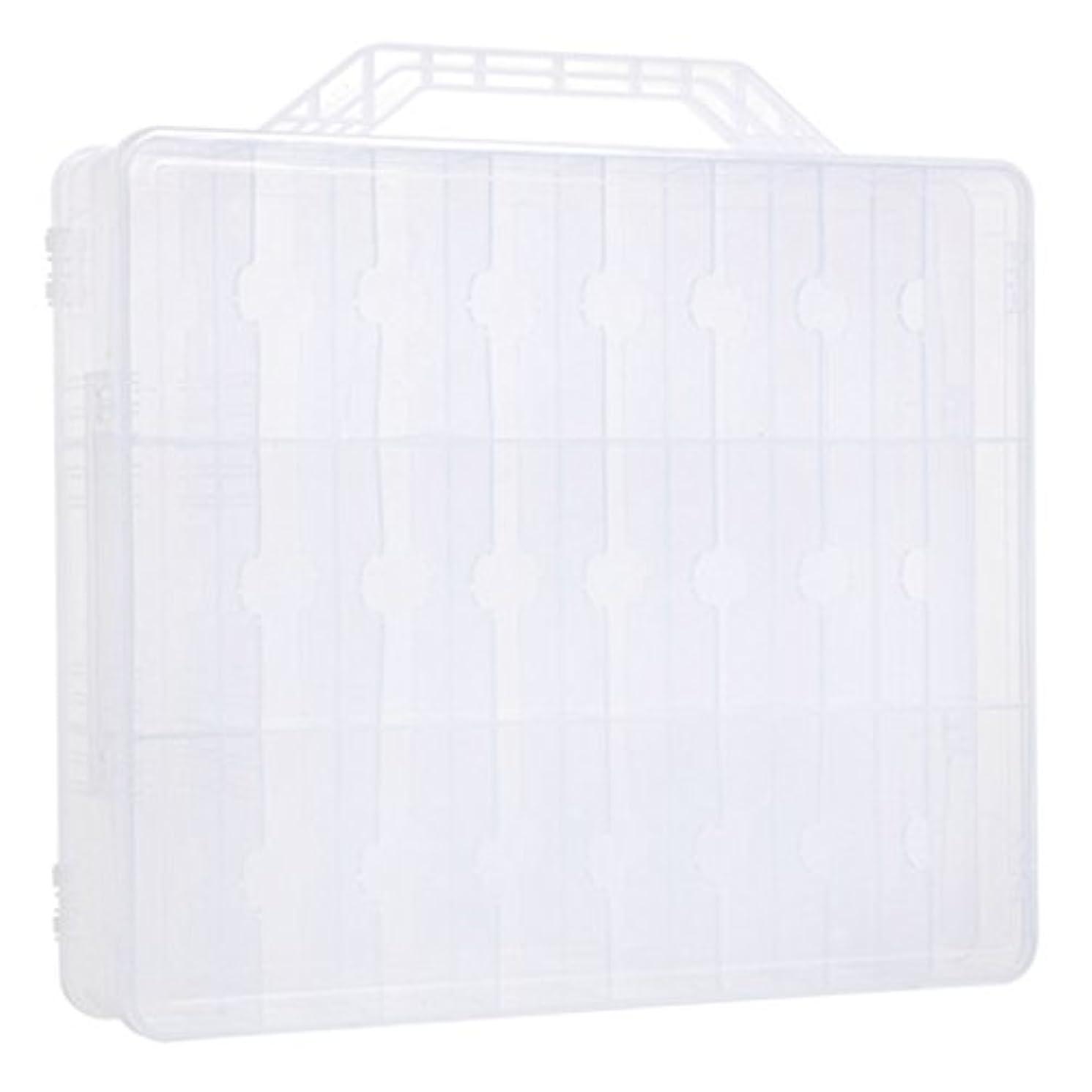 革新直感苦難Kapmore ネイルカラー 収納ボックス ネイルポリッシュ マニキュアケース 48ボトル収納可能 透明 プラスチック 小物入れ ヘアバンド ヘアクリップ 持ち運び