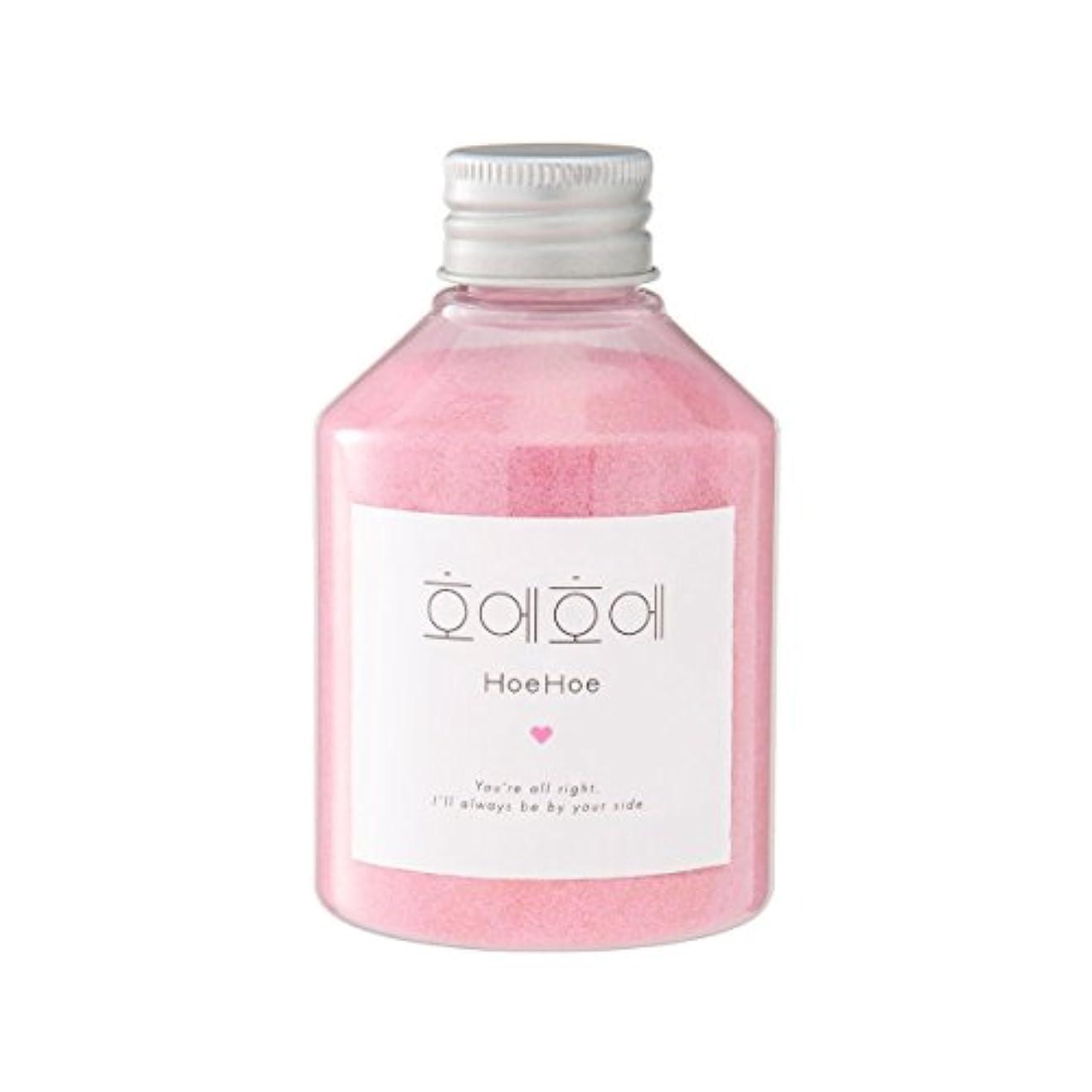 ガラスフロントポゴスティックジャンプHoeHoe Bath Powder ローズの香り ホエホエ バスパウダー