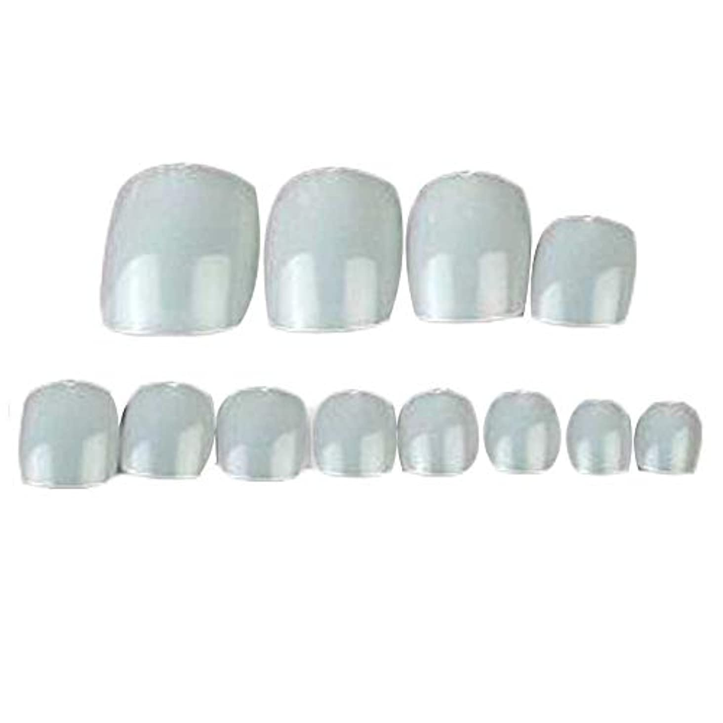 不要おじさんポジティブ500個のナチュラルカラー人工爪のヒントフルカバー偽爪