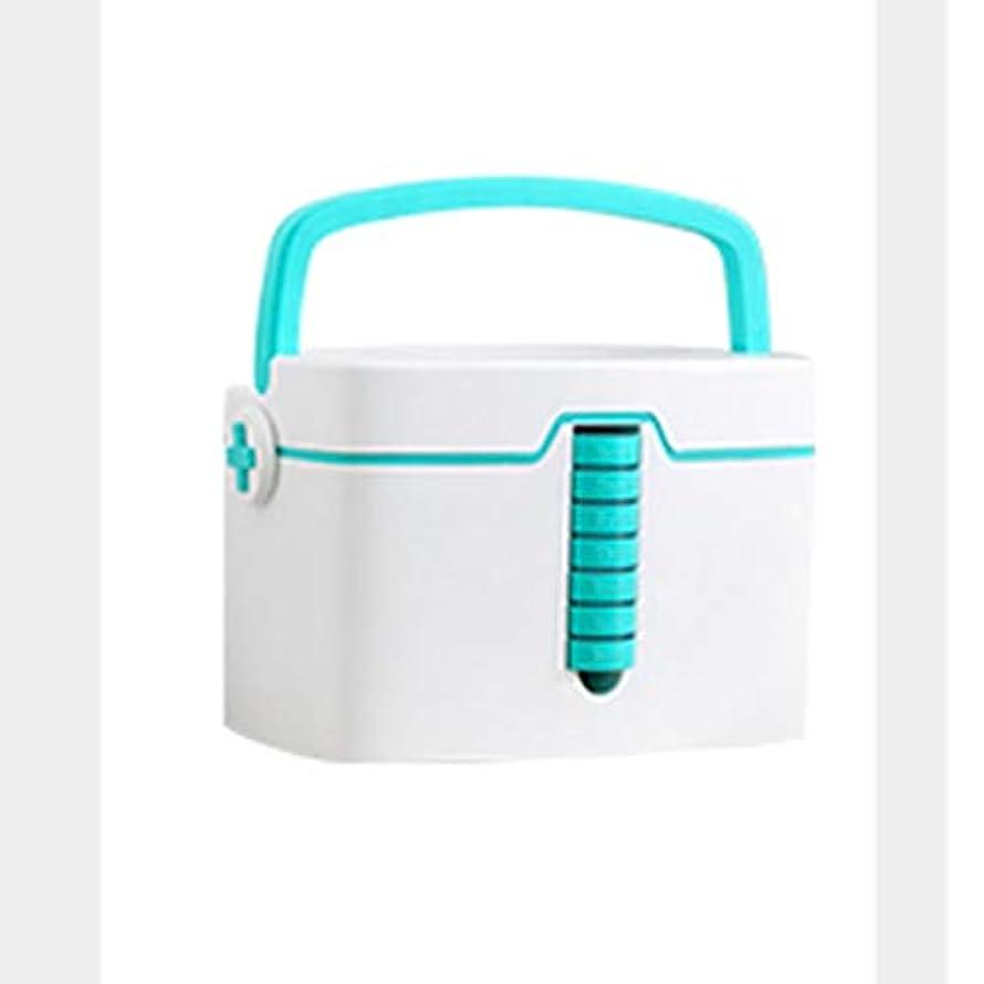 アレキサンダーグラハムベルバース鎮痛剤緊急用バッグ 特大薬箱携帯用薬収納ボックスキャリングハンドル33.7 x 24 x 22.7 cm HMMSP (Size : Green)