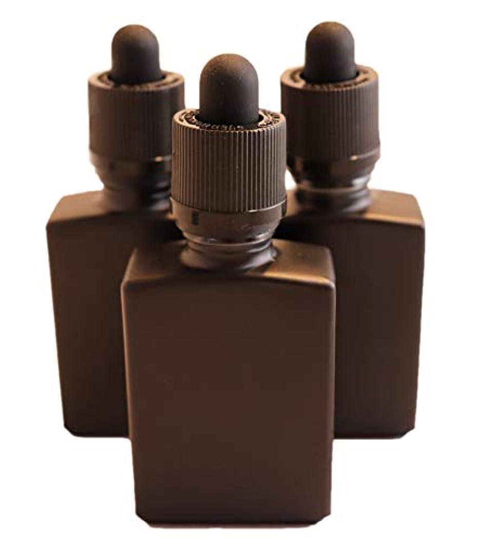 一瞬大臣ぼかしTENKU ガラス製スポイト遮光瓶【チャイルドロック付き】30ml 3本 アロマ 香水 リキッド保存用 詰替え用 マットブラック