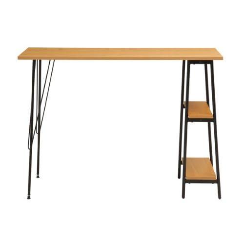 あずま工芸 カウンターテーブル 棚 机 キッチン ダイニング TCT-1246 ナチュラル 【代引き不可】 [並行輸入品]
