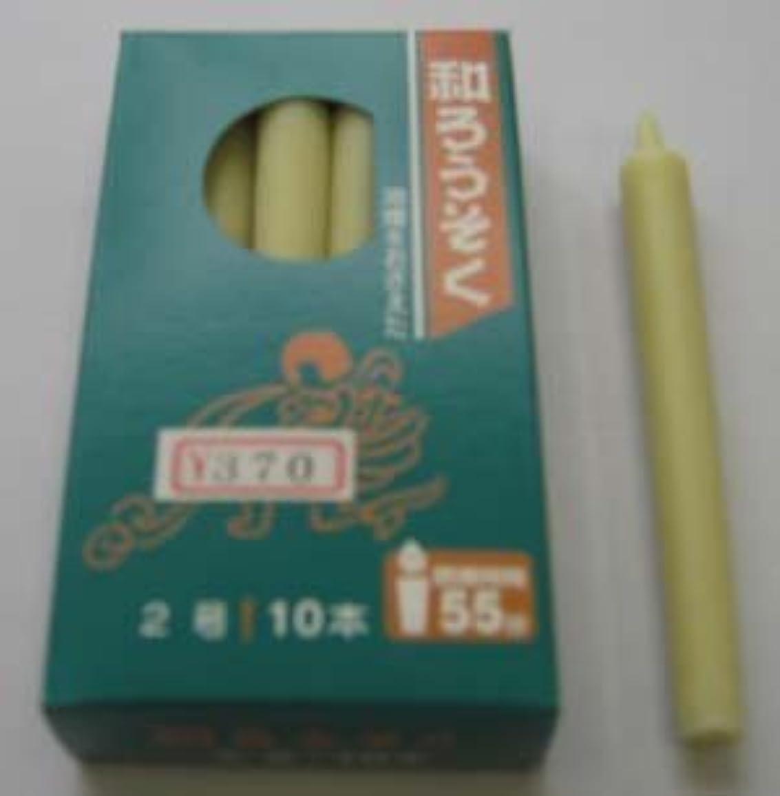 消毒する苦情文句海上和ろうそく 型和蝋燭 ローソク 2号 棒タイプ 白 小箱 10本入り