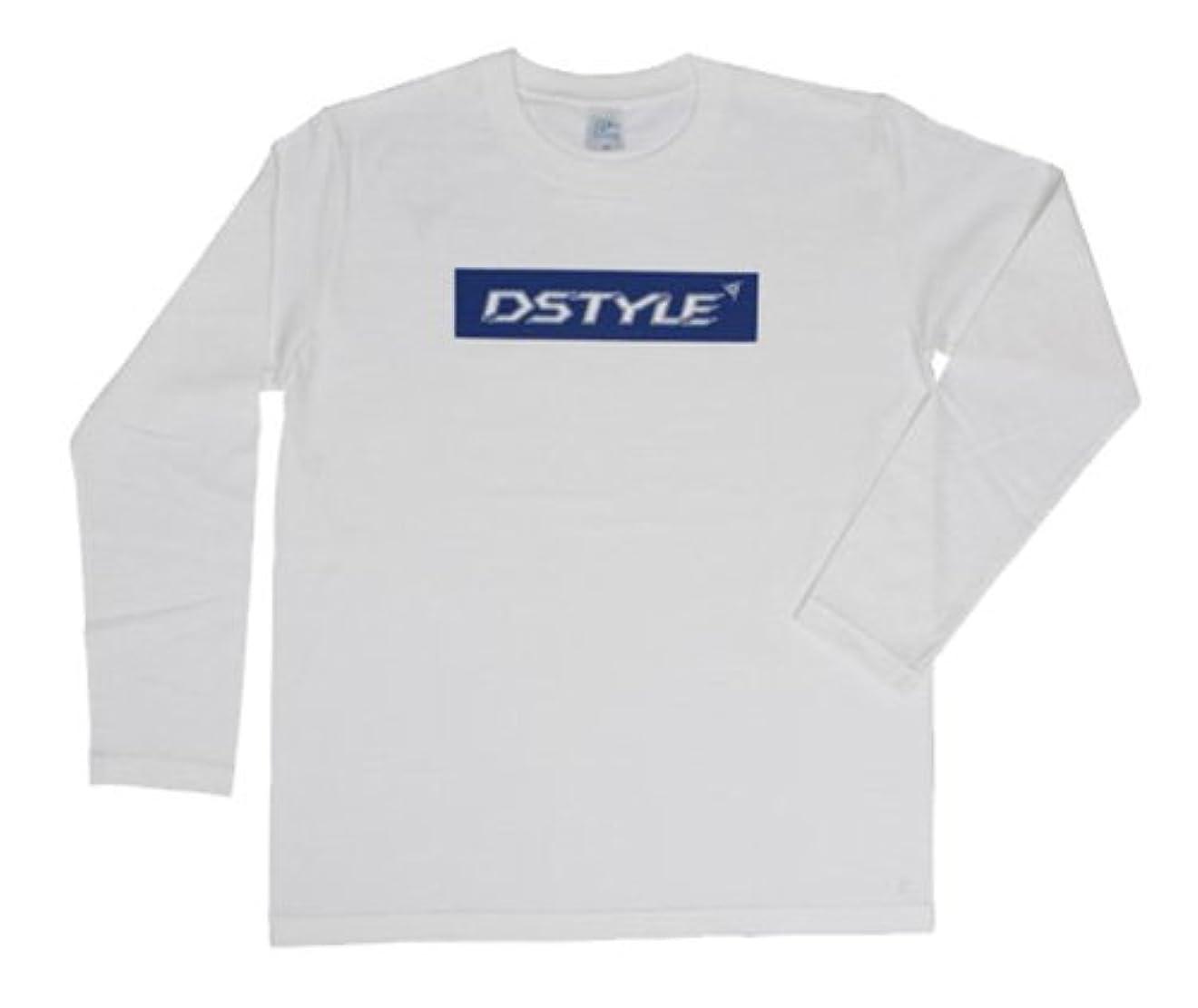パイプ意外探検DSTYLE(ディスタイル) BOX ロゴ ロングTシャツ WHITE M.