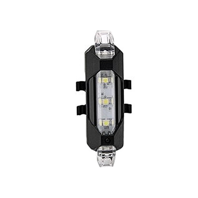 1stモール 自転車 リアライト セーフティライト セーフティーライト LEDライト テールライト 点灯 点滅 高輝度 15ルーメン (ホワイト) ST-AQY-093-WH