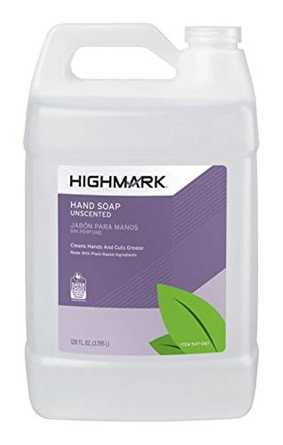 アニメーション障害者最悪Highmark ( TM ) Hand Soap、無香、128オンス、ケースの4