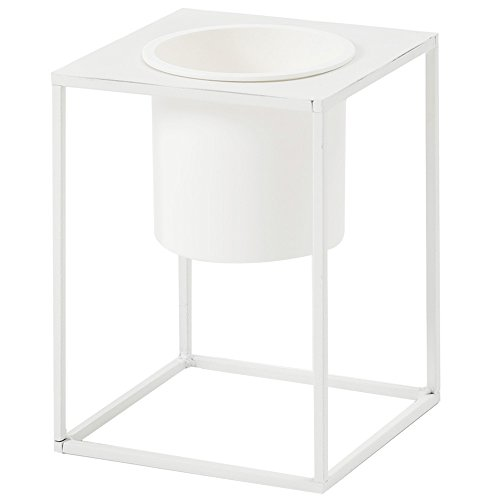 RoomClip商品情報 - ルームアンドホーム 鉢カバー ホワイト 20×15×15cm スタンド フラワーベース 花器 S モノ 植木鉢 F型