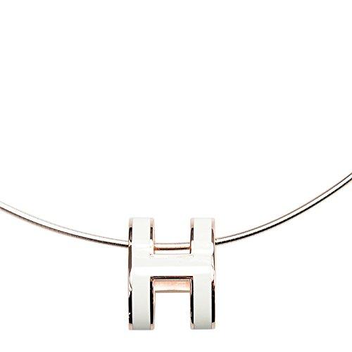 (エルメス)HERMES ネックレス NECKLACE H LOGO PG/01 ホワイト [並行輸入品]