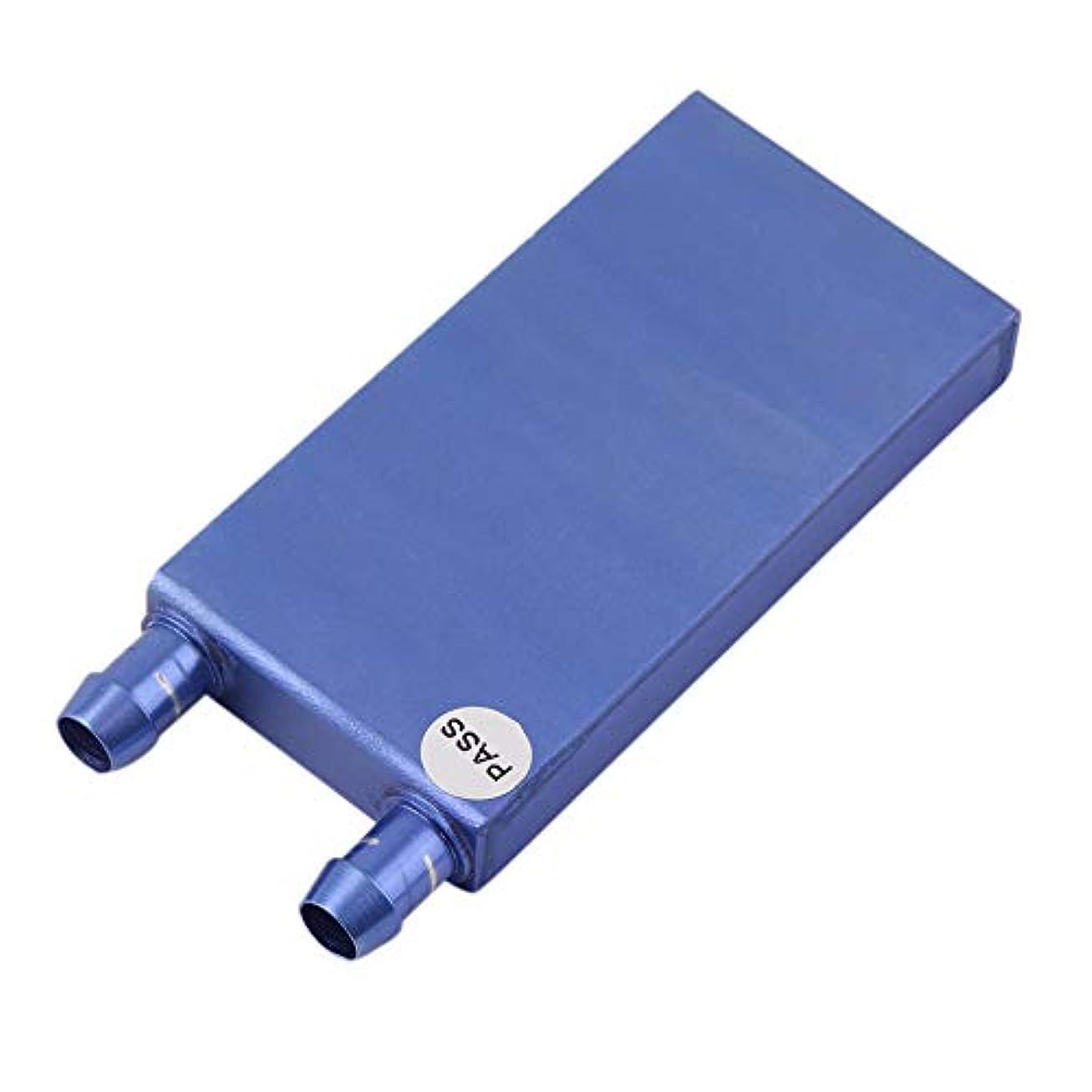 ベスビオ山勝者ラケット40 * 80 * 12ミリメートルアルミ水冷ヒートシンクブロック液体クーラー用コンピュータCPU GPU産業用制御キャビネットアクセサリー - ブルー
