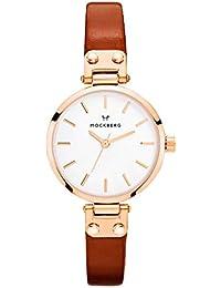 [モックバーグ]MOCKBERG 時計 レディース Vilde Petite 腕時計 28mm ホワイト ブラウンレザー MO209 [正規輸入品]