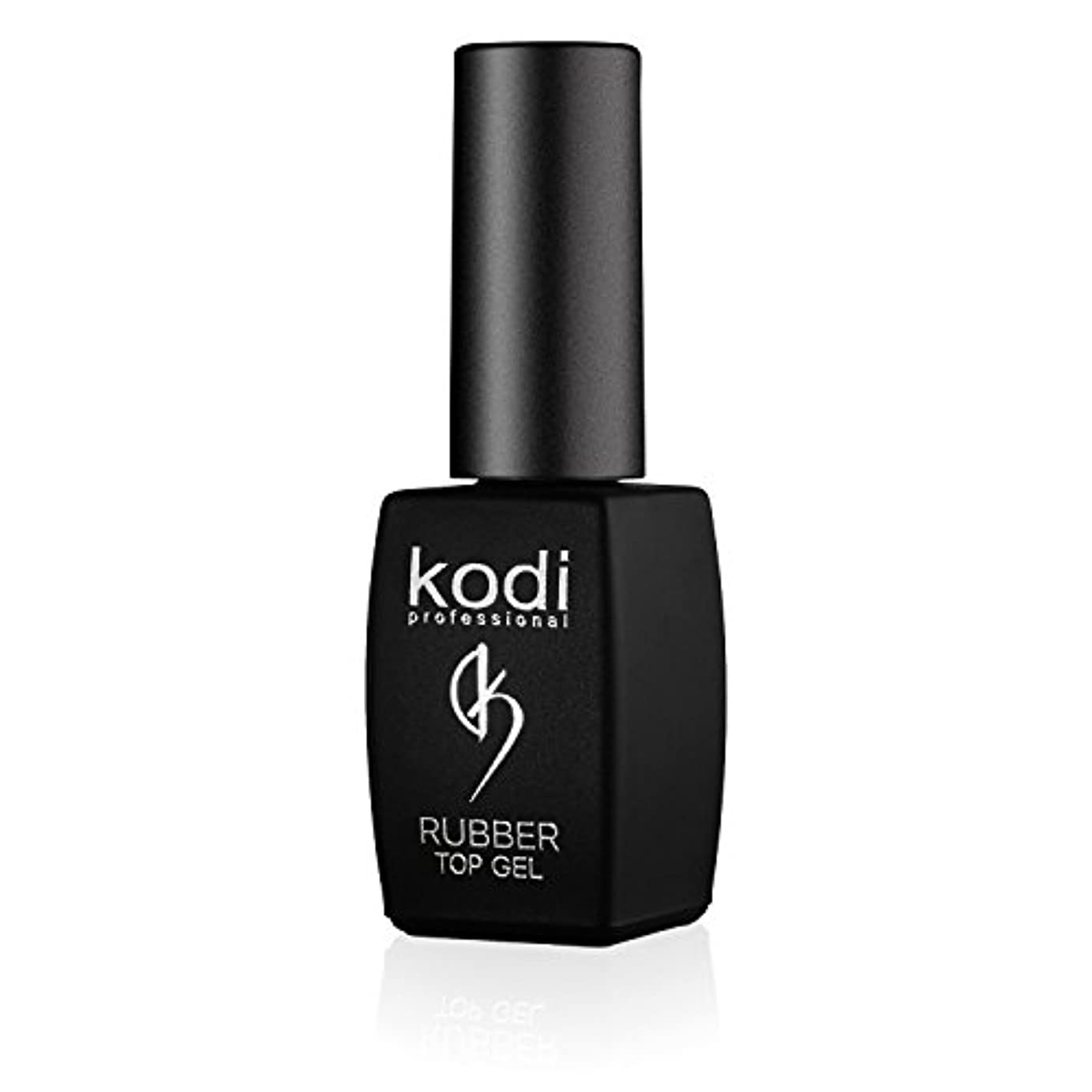 クリーク取り替える光沢のあるProfessional Rubber Top Gel By Kodi | 8ml 0.27 oz | Soak Off, Polish Fingernails Coat Kit | For Long Lasting Nails...