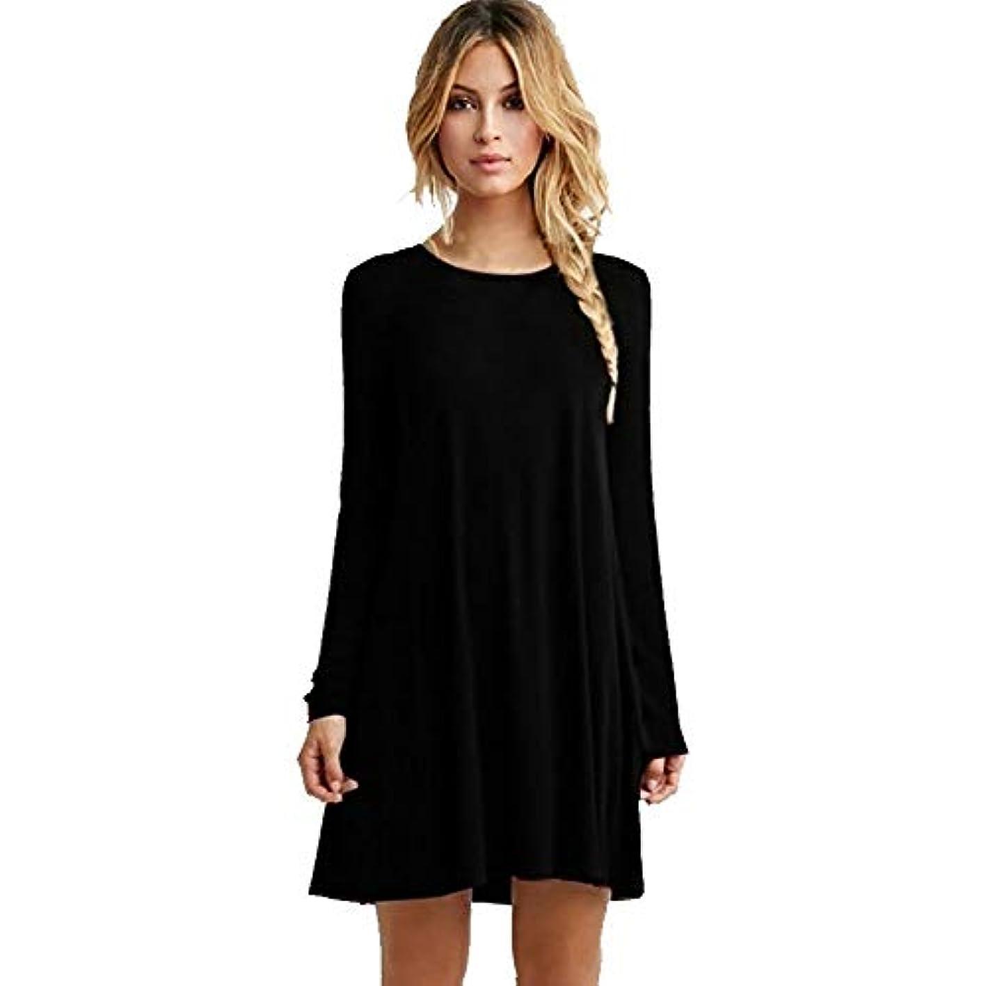 ポスターゾーン女性MIFANルースドレス、プラスサイズのドレス、長袖のドレス、女性のドレス、秋のドレス、マキシドレス、コットンドレス