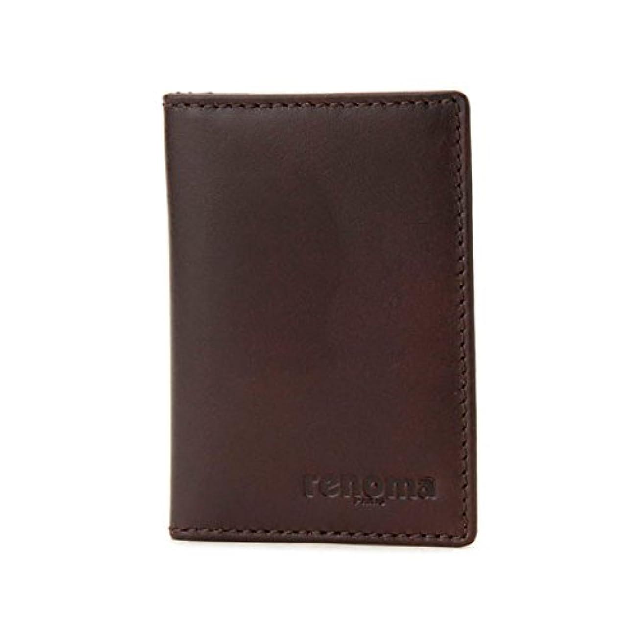 ジャニス例欲望レノマ renoma カードウォレット パスケース メンズ RE9007-002 ブラウン 財布?小物 カードケース mirai1-512791-ah [並行輸入品] [簡素パッケージ品]