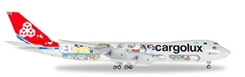 ヘルパ 1/200 B747-8F カーゴルクス 45周年記念塗装 LX-VCM 完成品