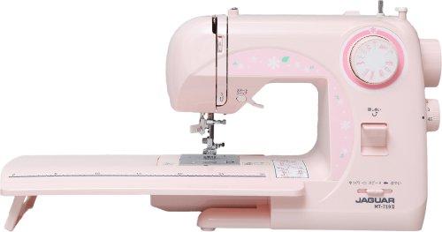 ジャガー電子ミシン MT-719Ⅱ ワイドテーブル付き (ピンク)