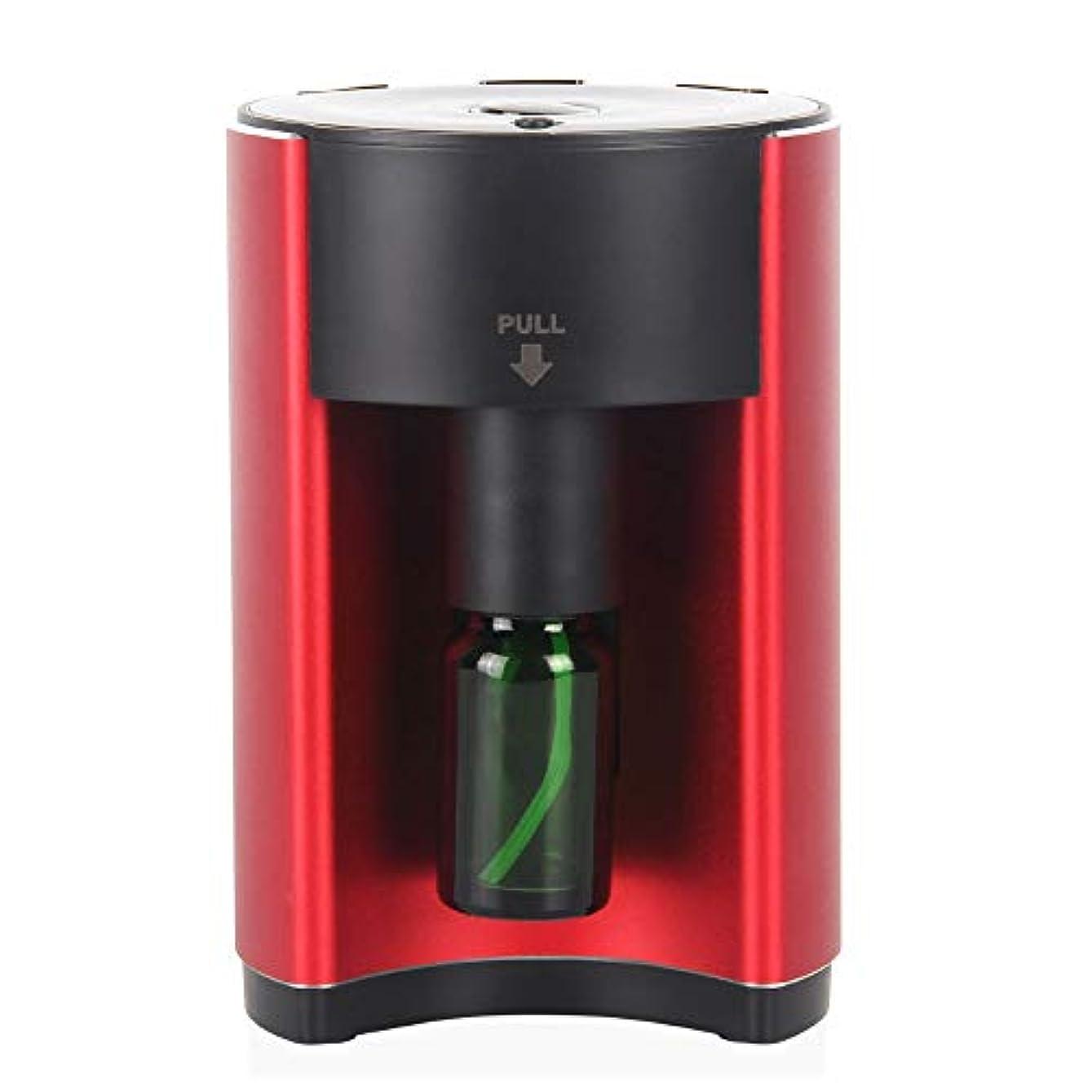 変形するキャンディー不屈広範囲適用 アロマディフューザー ネブライザー式 レッド アロマオイル アロマグラス 人気 タイマー機能 コンパクトタイプ エッセンシャルオイル 加湿 うるおい i001