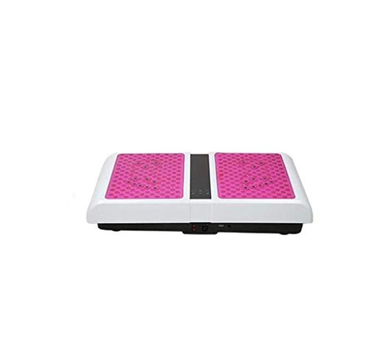 ライナーフェッチフェデレーション減量機、運動衝撃吸収フィットネスモデル減量機ユニセックス振動板、家族/ジムに適しています(最大負荷150KG) (Color : ピンク)