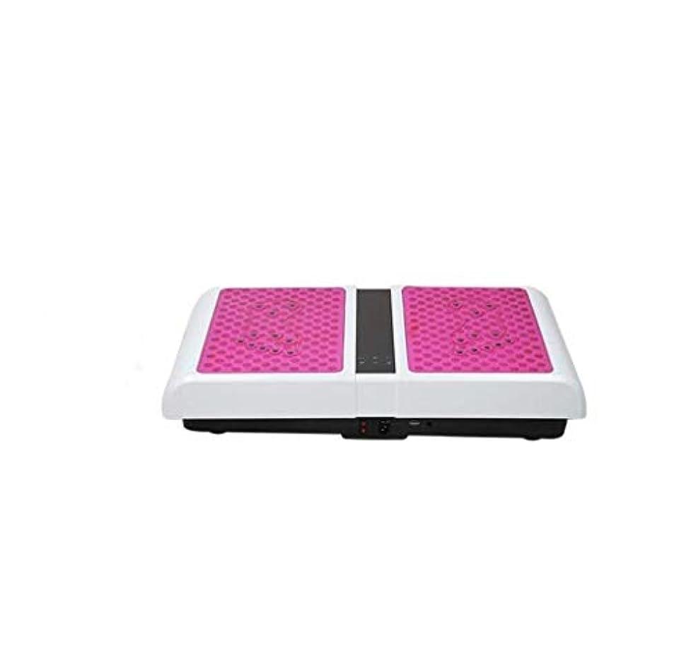 スクラップポイント自己減量機、運動衝撃吸収フィットネスモデル減量機ユニセックス振動板、家族/ジムに適しています(最大負荷150KG) (Color : ピンク)