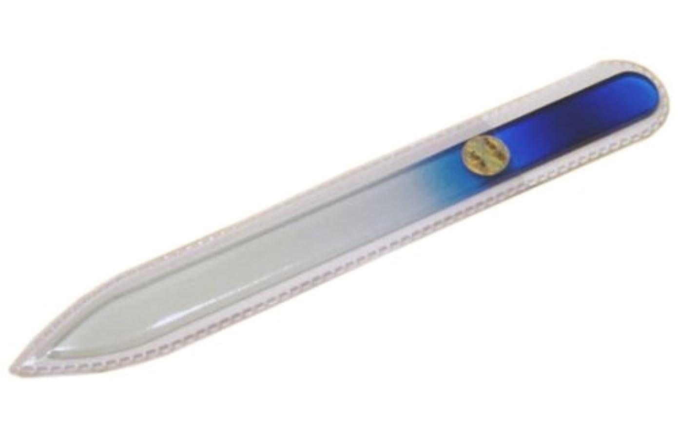 格納薬を飲む提唱するブラジェク ガラス爪やすり 140mm 片面タイプ(ブルーグラデーション #02)