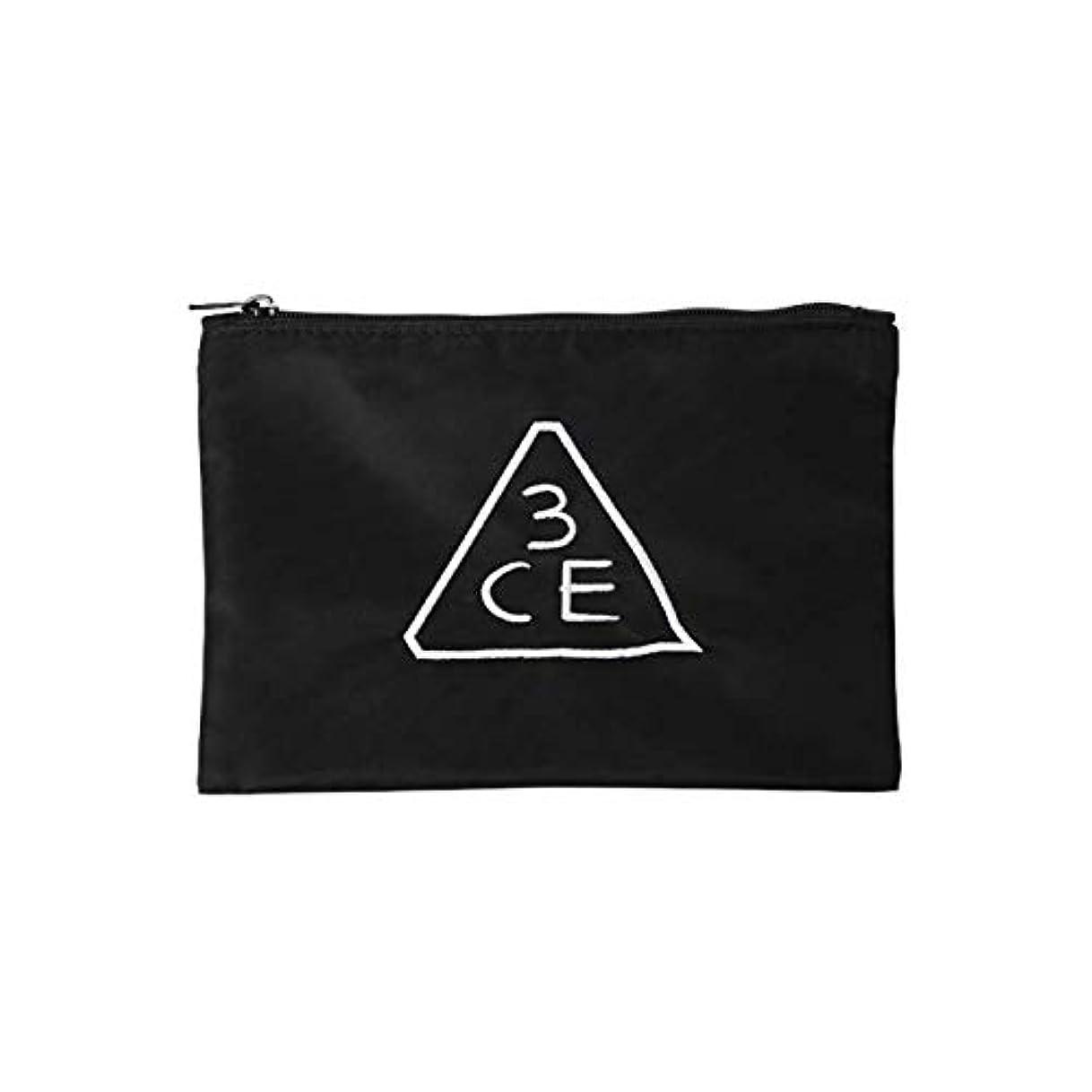 大胆文明大使館3CE フラットポーチ FLAT POUCH SMALL #BLACK [並行輸入品]