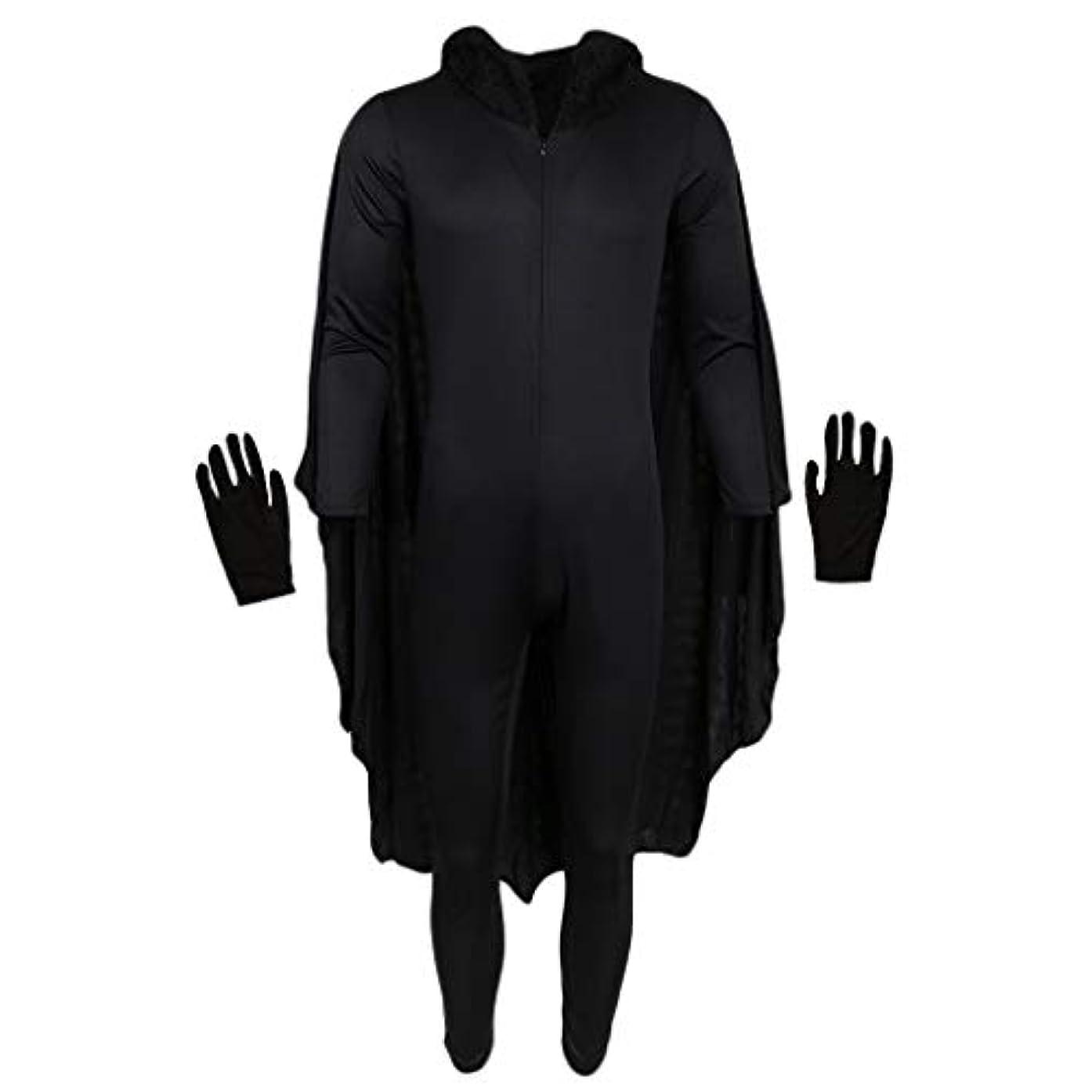 船外朝の体操をする実証するperfk 全2サイズ 吸血鬼 ドラキュラ ヴァンパイア 蝙蝠 悪魔 ハロウィーン コスプレ 衣装 - XL
