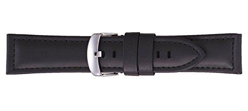 [バンビ]BAMBI 時計バンド カーフ ブラック 24mm BC001A0-W