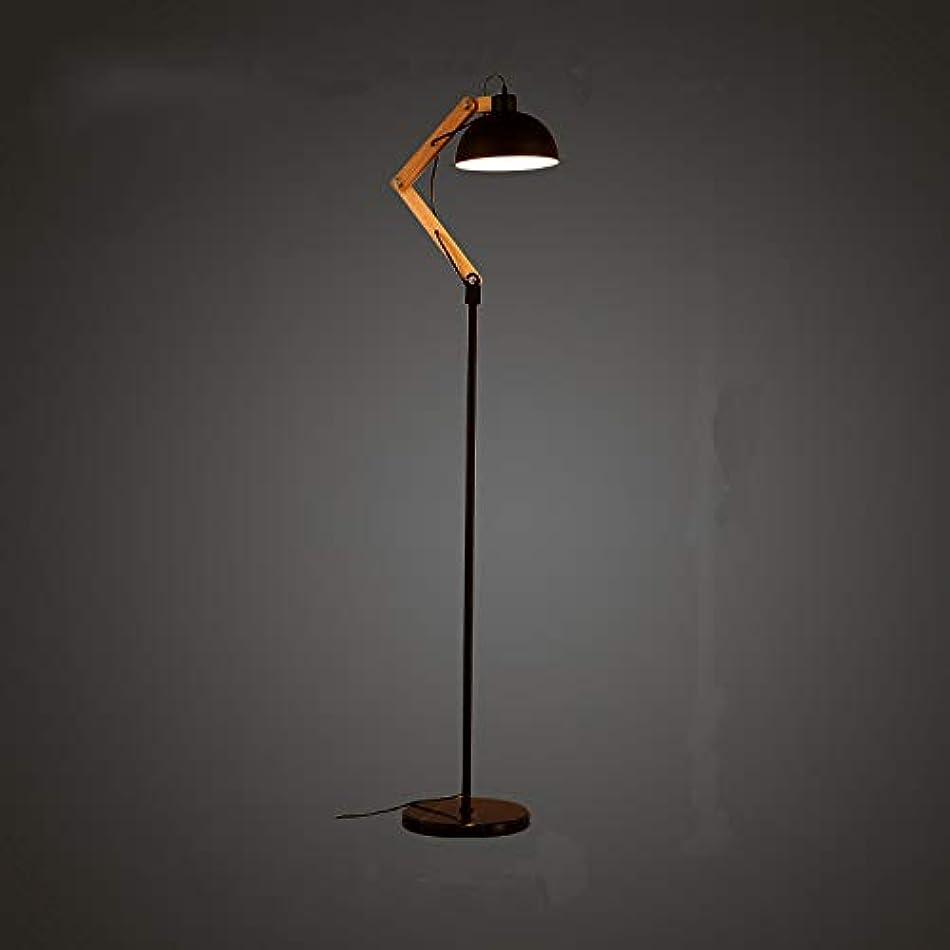 パーセント超高層ビルアクセシブルフロアランプシンプルな寝室の錬鉄製のフロアランプライト126 cm LEDランプランプ木製ランプ